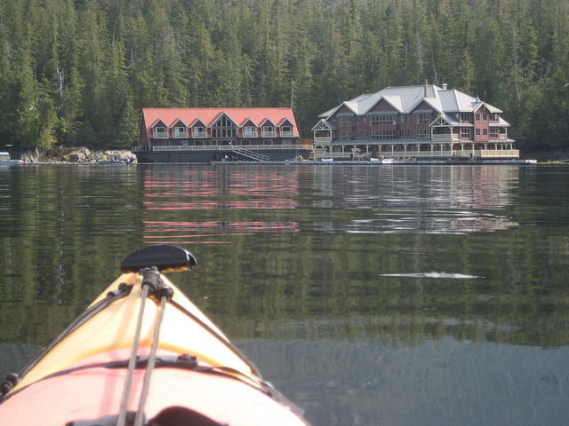 kayak, king pacific lodge, princess royal island, barnard harbor, british columbia, canada