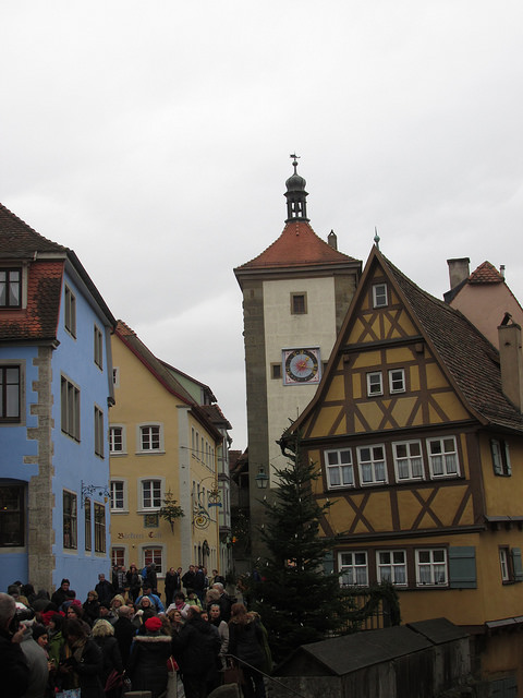 "Plönlein half-timbered building in the ""little square."" Photo © 2016 Nancy D. Brown"