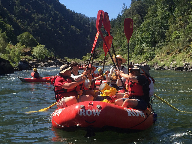 rogue river, row adventures, rafting, paddlers, river guide