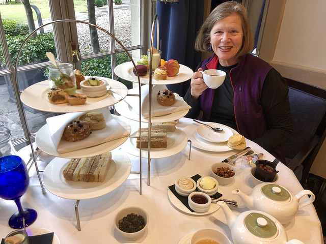 nancy d. brown, afternoon tea, dower house restaurant, royal crescent hotel & spa, 5 star luxury in bath, england