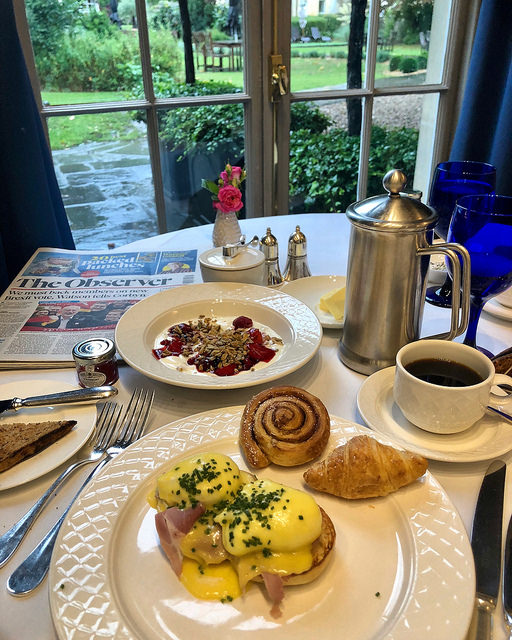 breakfast, dower house, royal crescent hotel & spa review, bath england luxury hotel