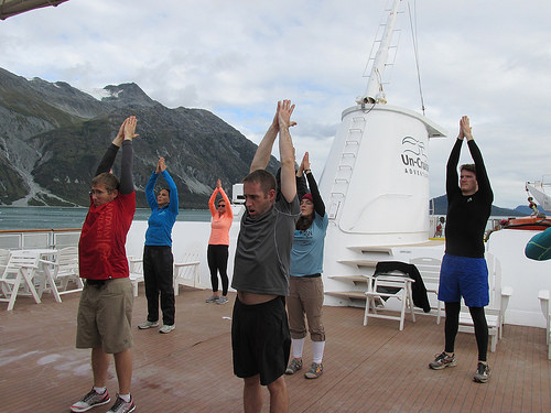 "yoga, ""Safari Endeavour"" cruise"
