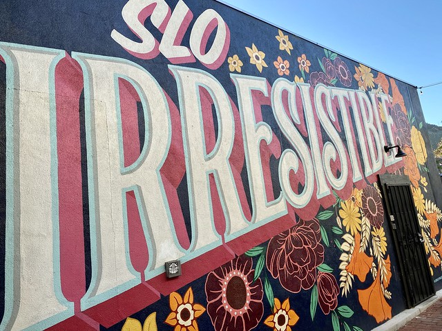 Colorful wall art in downtown San Luis Obispo, also know as SLO.