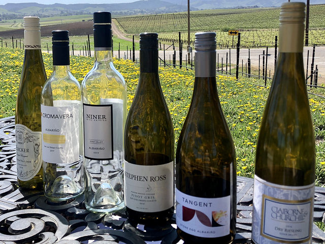slo wine country, white wines, albarino white wine, stephen ross, pinot gris, tangent, niven family wine estates, croma vera, claiborne & churchill dry riesling