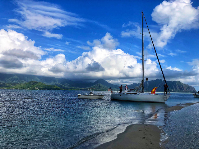 7 things to do on oahu besides surfing, sailing kaneohe bay sandbar, oahu hawaii