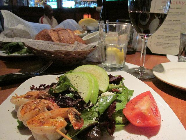 Salt Creek Grill, shrimp salad, Valencia