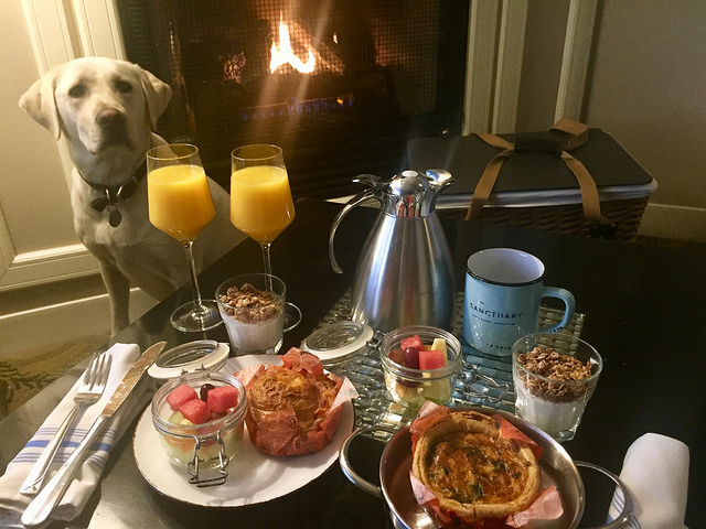 breakfast basket, sanctuary beach resort, marina, california