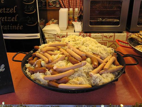 """Strasbourg Christmas Market"" sausages"