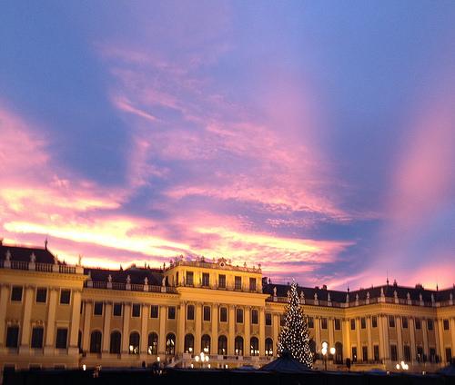 Schönbrunn Palace, Sunset, Vienna, Austria