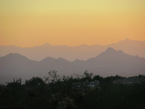 """Scottsdale, Arizona"", sunset"