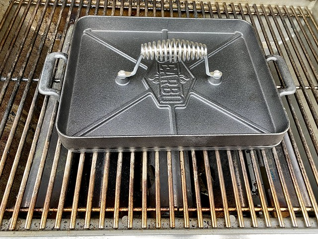 Searbq griddle & press works with your gas grill.
