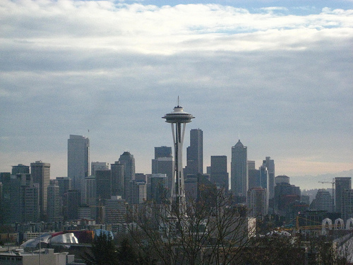 """""""Seattle Skyline with Space Needle"""""""