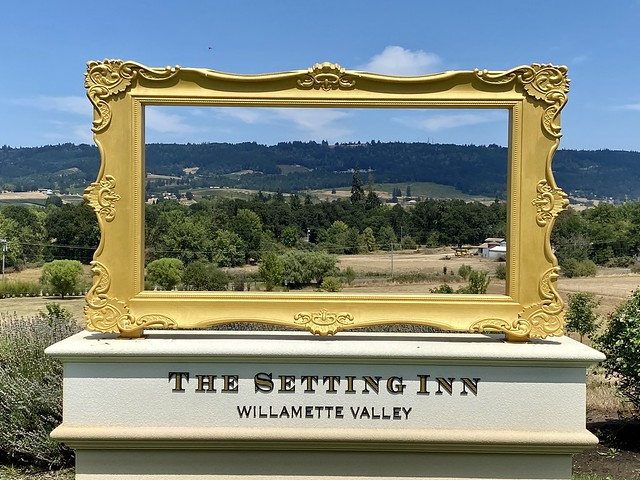 Setting Inn Willamette Valley looks out to Oregon wine country.