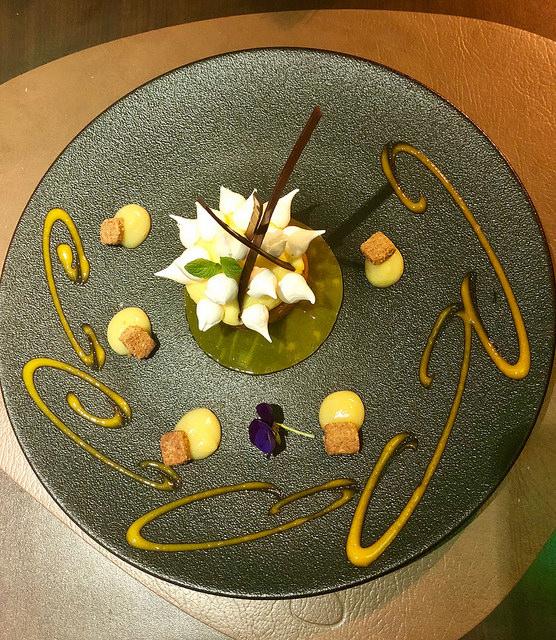 dessert, le b restaurant, sofitel biarritz le miramar hotel, biarritz, france
