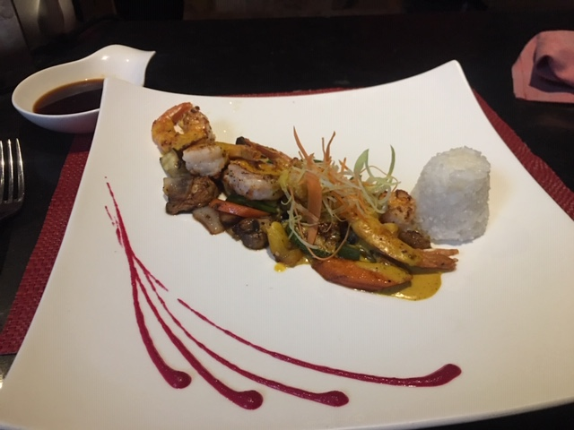 Seafood dish at Spice at Now Jade, a resort on the Mayan Riviera