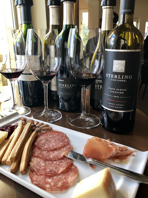 sterling vineyards wine tasting, how to do calistoga like a local, food and wine pairing, visit calistoga california