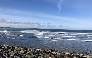 strandhill bay, atlantic ocean, waves,