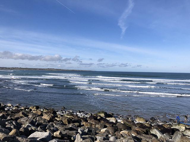 strandhill bay, atlantic ocean, waves,