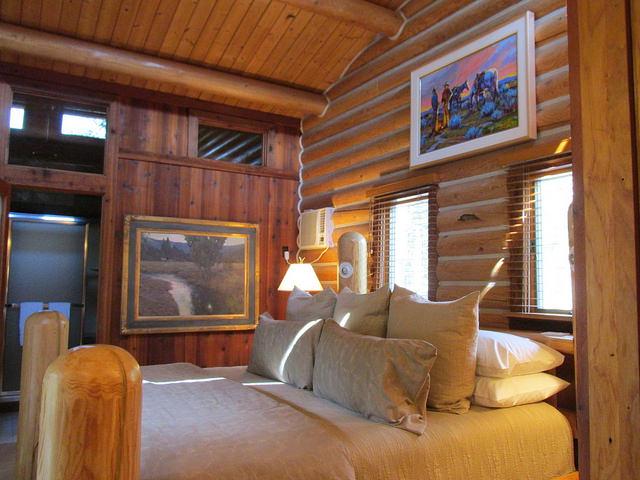 log cabin, Triple Creek Ranch, Montana