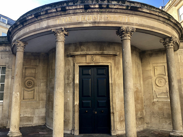 the cross bath, thermae bath spa review, open air cross bath, somerset england