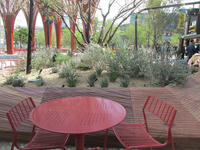 picnic table, patio table, the park las vegas, las vegas park