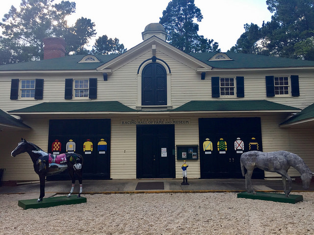 thoroughbred racing hall of fame & museum, aiken, south carolina, hopeland gardens