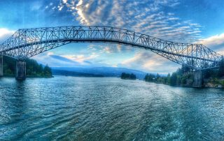 bridge of the gods, uncruise rivers of adventure small ship cruise, columbia river, cascade locks, oregon