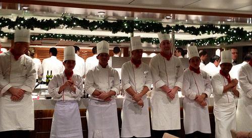 Viking Delling crew, Viking River Cruises, restaurant