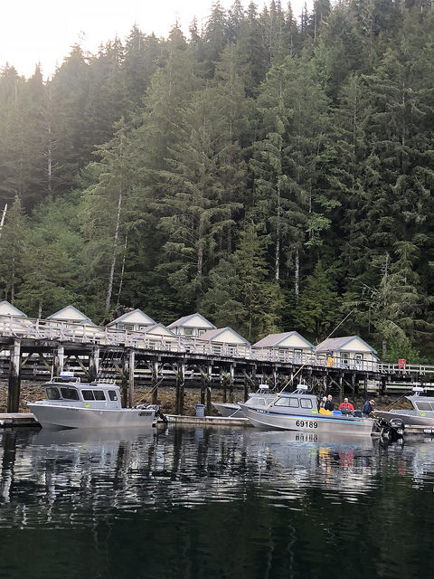 historic cottages waterfall resort alaska, prince of wales island fishing lodge, southeast alaska