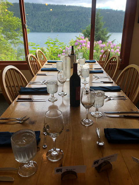 waterfall resort alaska restaurant, alaska fishing lodge, prince of wales island, southeast alaska