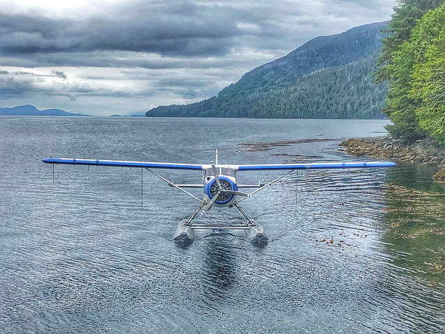 waterfall resort alaska floatplane, fishing for king salmon, southeast alaska, tongess national forest