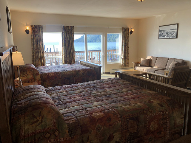 waterfall resort alaska, hotel review, hotel room prince of wales island, southeast alaska