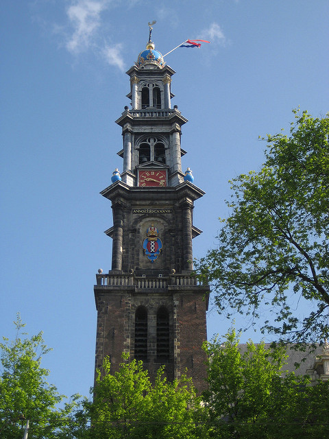 wester church, Westerkerk, clocktower, amsterdam, holland