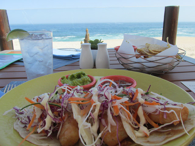 coralline restaurant, fish tacos, westin los cabos, sea of cortez, mexican street food