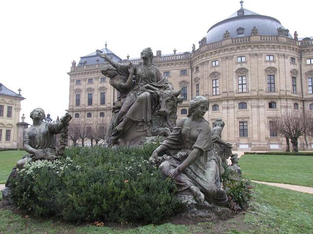 Rape of Europa, wurzburg palace, wuerzburg, germany