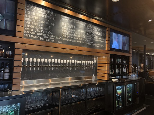 Beer on tap at Yeast of Eden in Carmel Plaza, downtown Carmel.