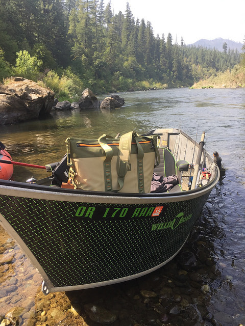 willie boats, yeti hopper two cooler, rogue river, southern oregon, fishing