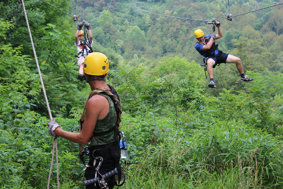 Each zip line trip includes two guides who make sure guests have a good time and are stay safe.