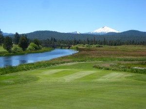 crosswater golf course, sunriver, oregon, deschutes river, mt. bachelor