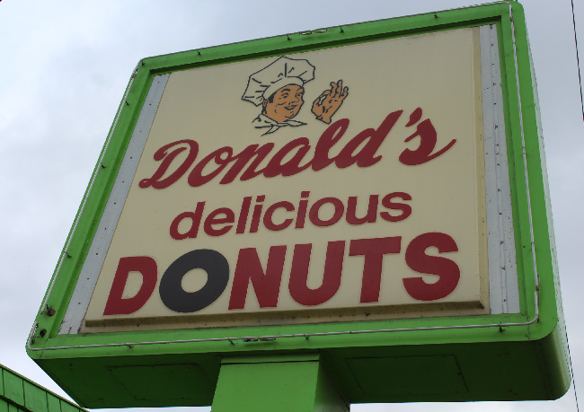 Donald's Donuts in Zanesville is a town landmark