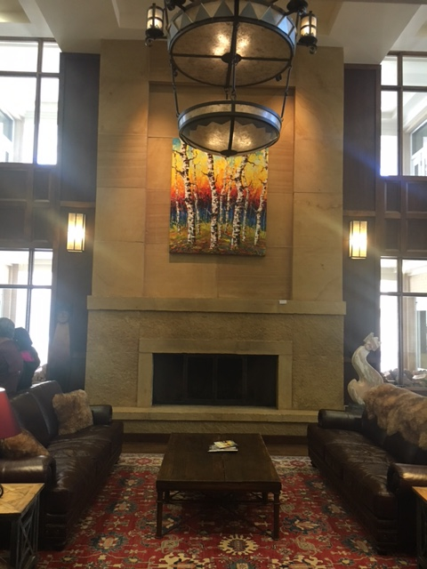 The lobby of the Drury Plaza Hotel in Santa Fe is loaded with artwork.