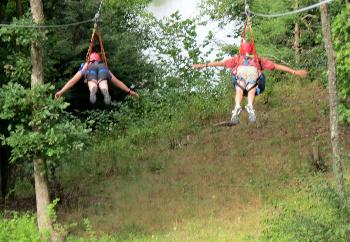 Fly like Superman across the river down below