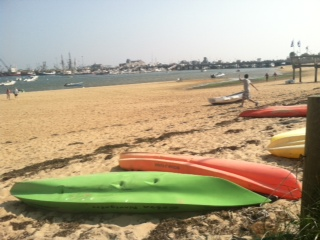 View from the beach in Provincetown, Massacusetts
