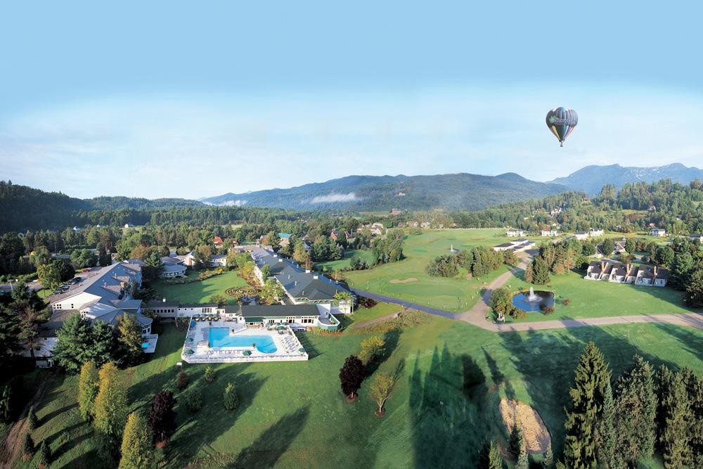 An aerial view of Stoweflake Mountain Resort & Spa
