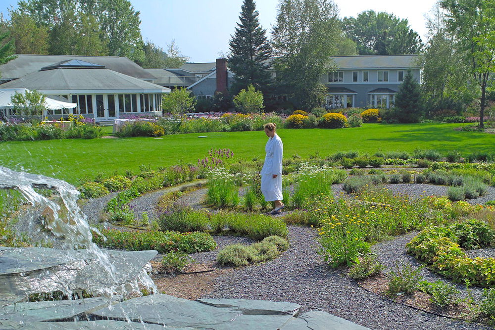 The labyrinth in the meditative garden.