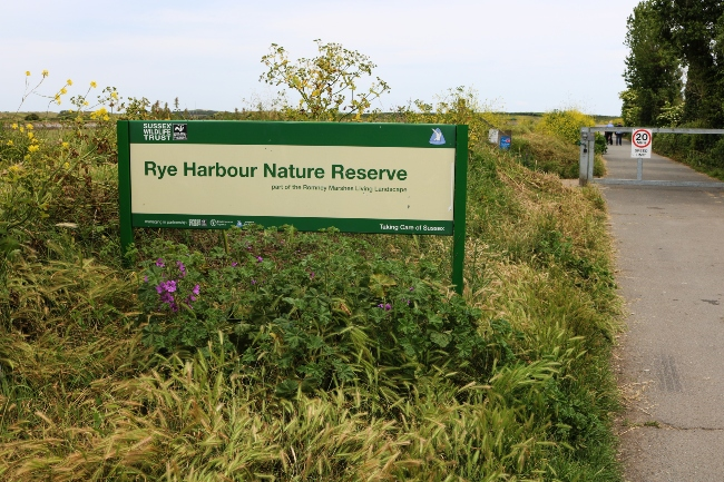Rye Harbour Nature Reserve Entrance