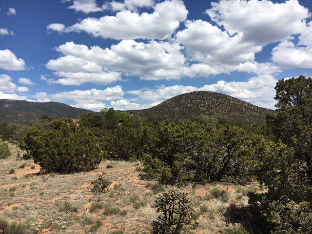 A stunning view from the Santa Fe trail.