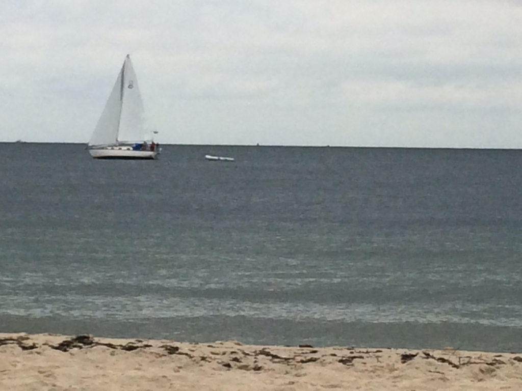View of Falmouth Heights Beach from the Seaside Inn on Cape Cod.