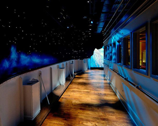 titanic iceberg and starry night