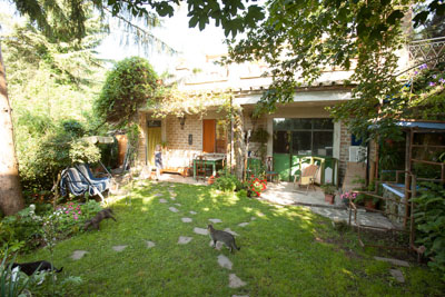 The adorable bungalow at Wild Zone Bed & Surfing in Bracciano, Italy.